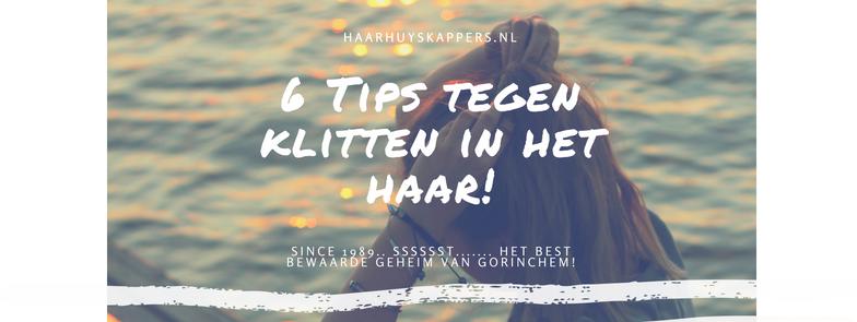 6 Tips tegen klitten in het haar!